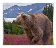 Brown Bear 2 Fleece Blanket