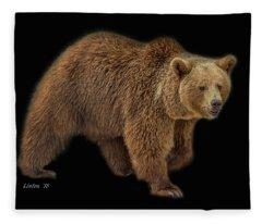 Brown Bear 5 Fleece Blanket