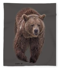 Brown Bear 8   Fleece Blanket