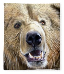 Brown Bear Fleece Blanket