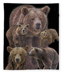 Brown Bears 8 Fleece Blanket