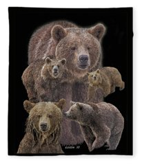 Brown Bears 8 Fleece Blanket