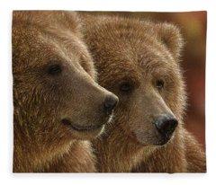 Brown Bears - Lazy Daze Fleece Blanket