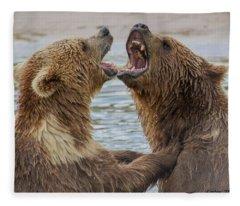 Brown Bears4 Fleece Blanket