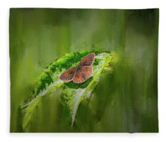 Brown Butterfly #h6 Fleece Blanket
