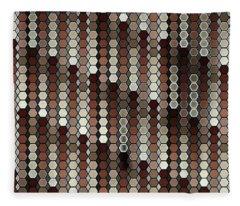 Brown Dot Fleece Blanket