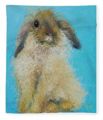 Brown Easter Bunny Fleece Blanket