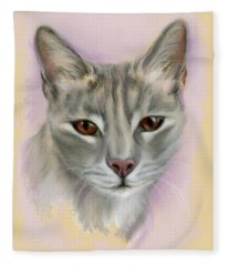 Brown Eyed Girl Fleece Blanket