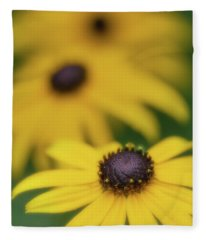 Brown Eyed Susan Fleece Blanket