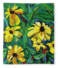 Brown-eyed Susans Fleece Blanket