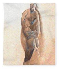 Brown Man Fleece Blanket