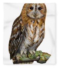 Brown Owl Or Eurasian Tawny Owl  Strix Aluco - Chouette Hulotte - Carabo Comun -  Nationalpark Eifel Fleece Blanket