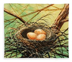 Brown Speckled Eggs Fleece Blanket