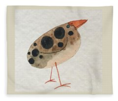 Brown Spotted Bird Fleece Blanket