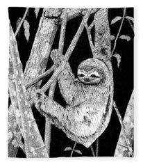 Brown-throated Three-toed Sloth Fleece Blanket