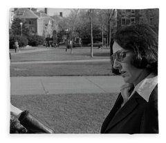 Brown University Student And His Mother, 1975 Fleece Blanket