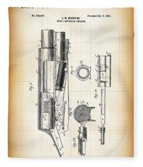 Browning Auto-5 Shotgun Patent  1900 Fleece Blanket