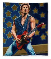Bruce Springsteen The Boss Painting Fleece Blanket