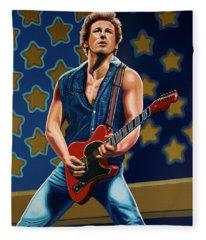 Bruce Springsteen Rocks Fleece Blankets