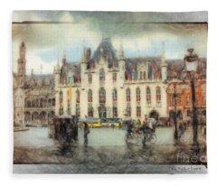 Bruges, Belgium Fleece Blanket