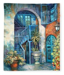 Brulatour Courtyard Fleece Blanket