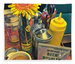 Brunch At Counter Cafe Fleece Blanket