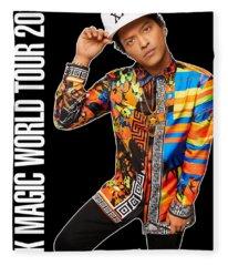 Bruno Mars 24k Magic Tour 2018 Ysf01 Fleece Blanket