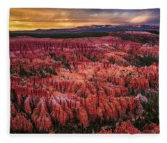 Bryce Canyon In The Glow Of Sunset Fleece Blanket
