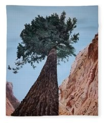 Bryce Pine Fleece Blanket