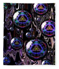 Bubble Abstract 1a Fleece Blanket