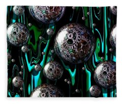 Bubble Abstract 1e Fleece Blanket