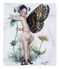 Bubble Butt Fairy Fleece Blanket