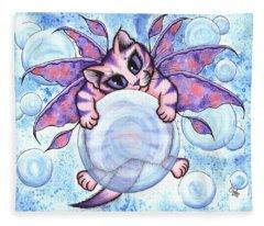Bubble Fairy Kitten Fleece Blanket
