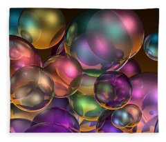 Bubbles Overall Fleece Blanket
