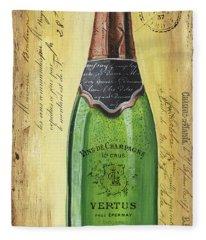 Bubbly Champagne 2 Fleece Blanket