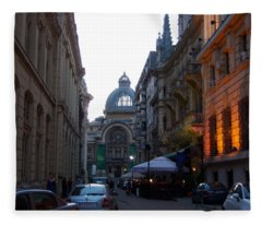 Bucharest 2 Fleece Blanket