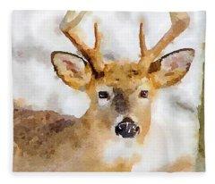 Buck Profile Fleece Blanket