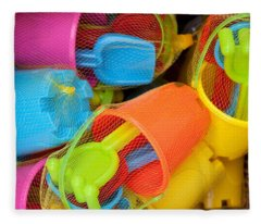 Buckets And Spades Fleece Blanket