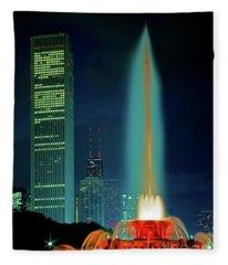 Buckingham Fountain  Chicago Landmark Fleece Blanket