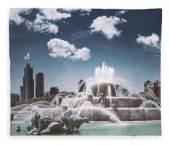 Buckingham Fountain Fleece Blanket