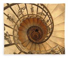 Budapest Staircase Fleece Blanket
