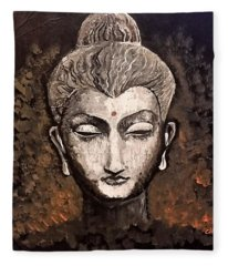 Buddha Fleece Blanket