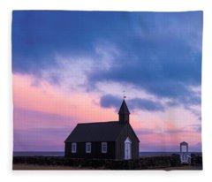 Budir Black Church Fleece Blanket