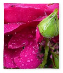Buds And Drops Fleece Blanket