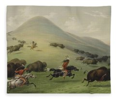 Buffalo Hunt Fleece Blanket