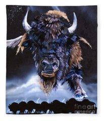 Buffalo Medicine Fleece Blanket
