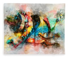 Bug Watercolor Fleece Blanket