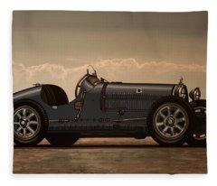 Bugatti Type 35 1924 Mixed Media Fleece Blanket