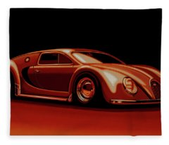 Bugatti Veyron 'beetgatti' 1945 Painting Fleece Blanket