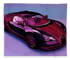 Bugatti Veyron 2005 Painting Fleece Blanket